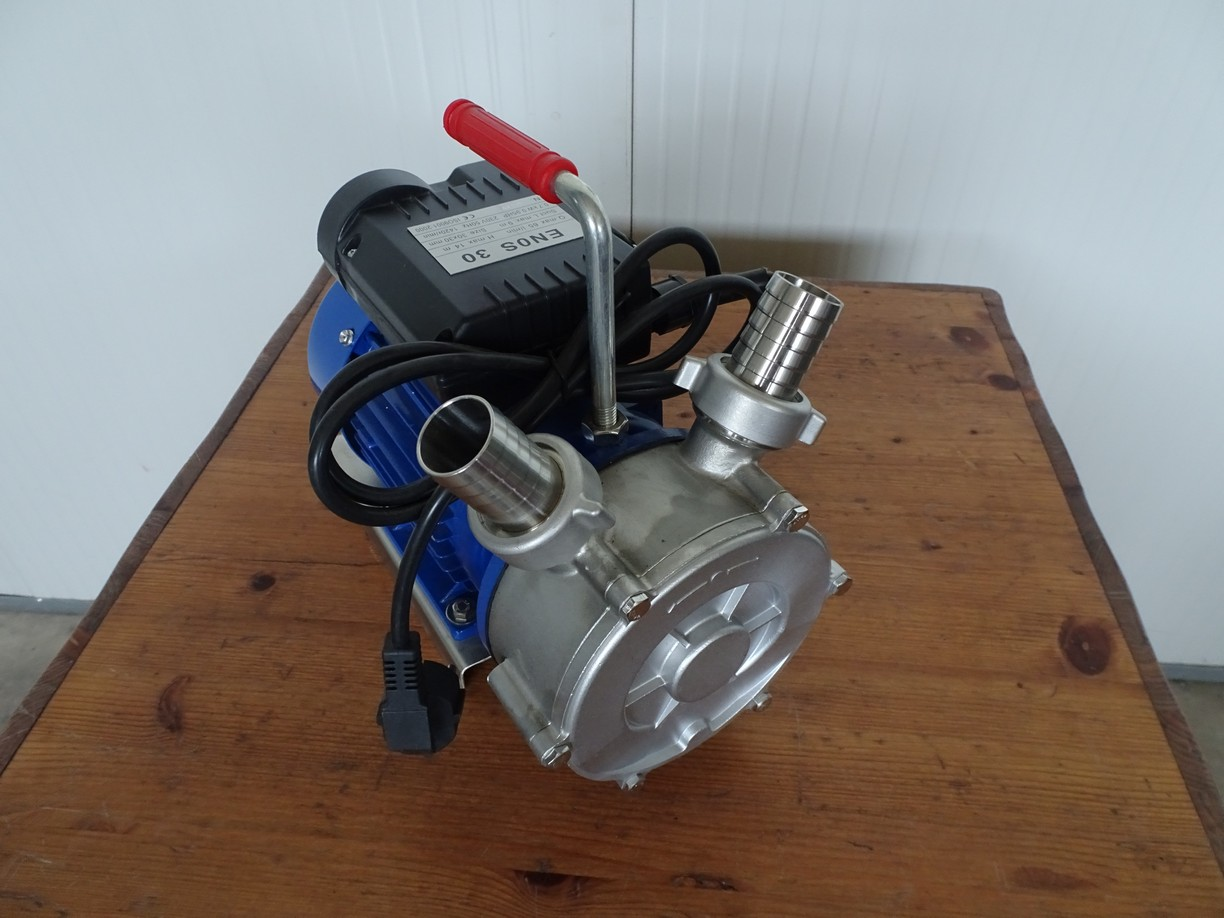 PUMP - ELECTRIC  SELF-PRIMING PUMP MOD. ENOS 30 STAINLESS STEEL BODY PUMP AND IMPELLER 1 SPEED SINGLE PHASE 220 VOLT NEW MACHINE