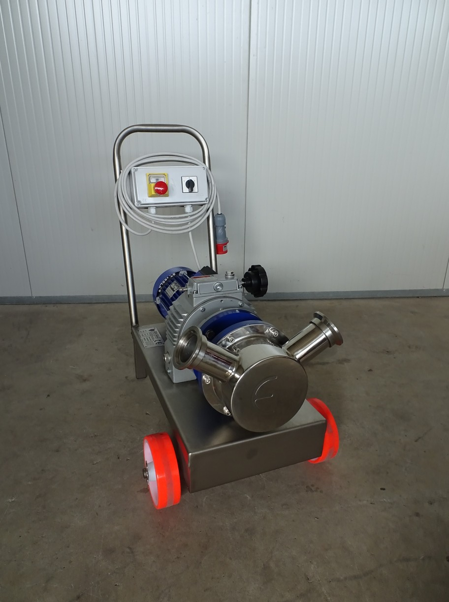 PUMP - ELECTRIC PUMP IN STAINLESS STEEL WITH FOOD NEOPRENE IMPELLER MOD. EURO 60 WITH MOTOVARIATORE THREE-PHASE 380 VOLT NEW MACHINE