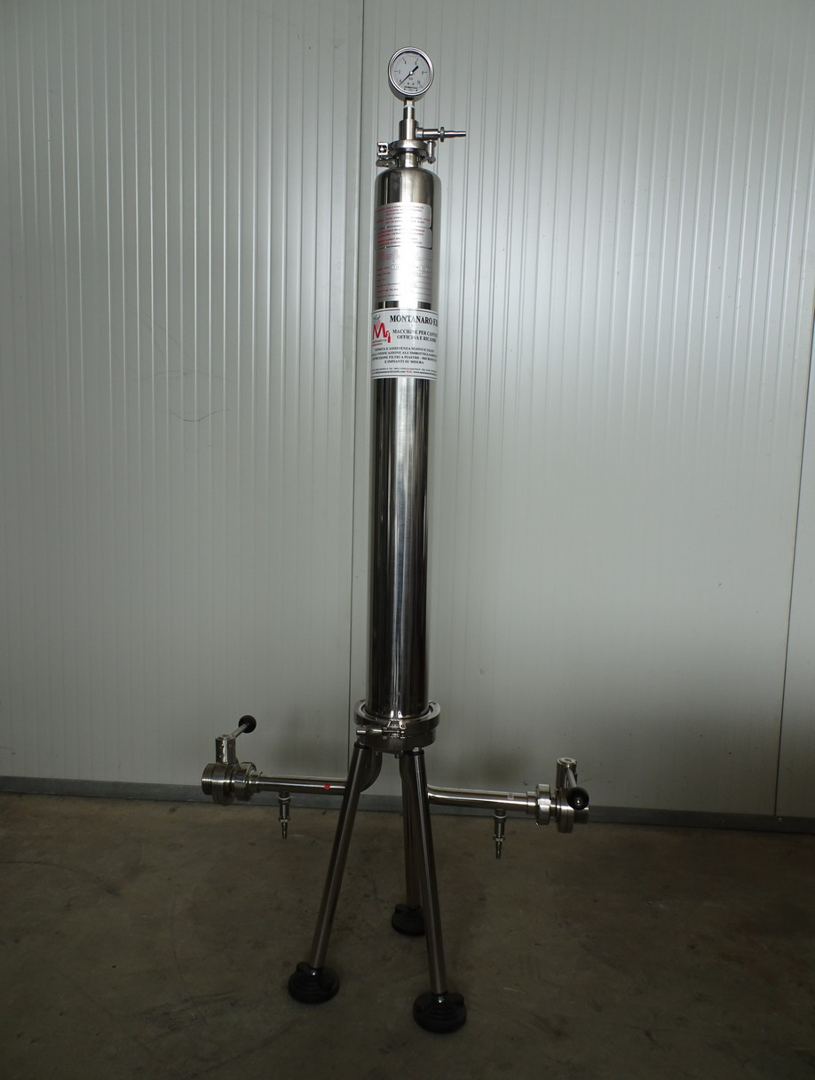 "MICROFILTER/HOUSING IN STAINLESS STEEL 1 CARTRIDGE TO 30"" LENGTH 75CM NEW MACHINE"