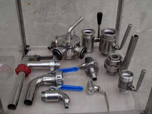 FITTINGS INOX - BALL VALVES - RUBBER IMPELLER - SPARE PARTS -