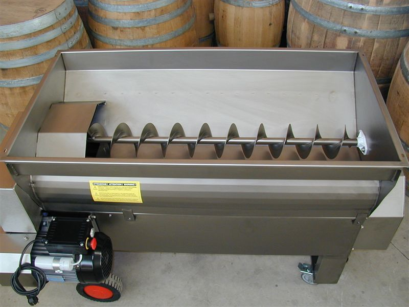 STAINLESS STEEL DESTEMMER WITH PUMP