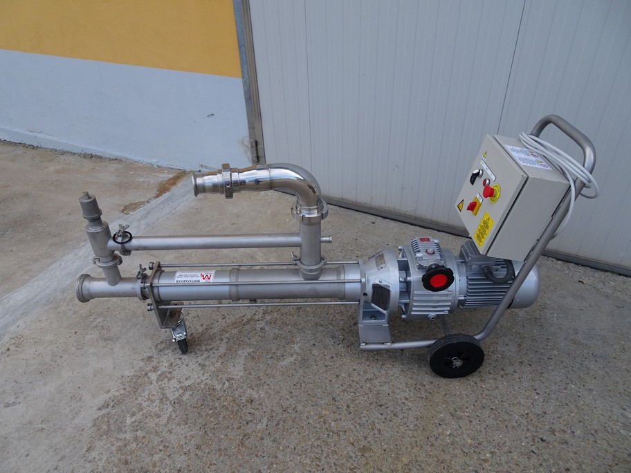 MONO PUMP INOXPA K 165 SF, WITH SPEED VARIATOR, SECOND-HAND MACHINE.