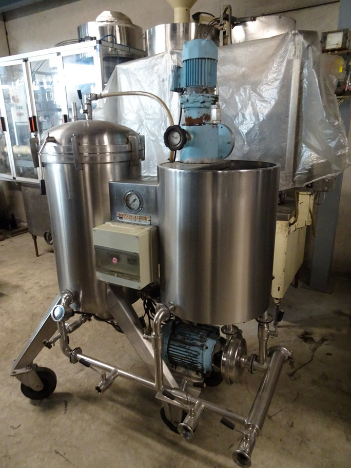 KIESELGUR FILTER VELO IN STAINLESS STEEL, 4 MQ FILTERING SURFACE, SECOND-HAND MACHINE.