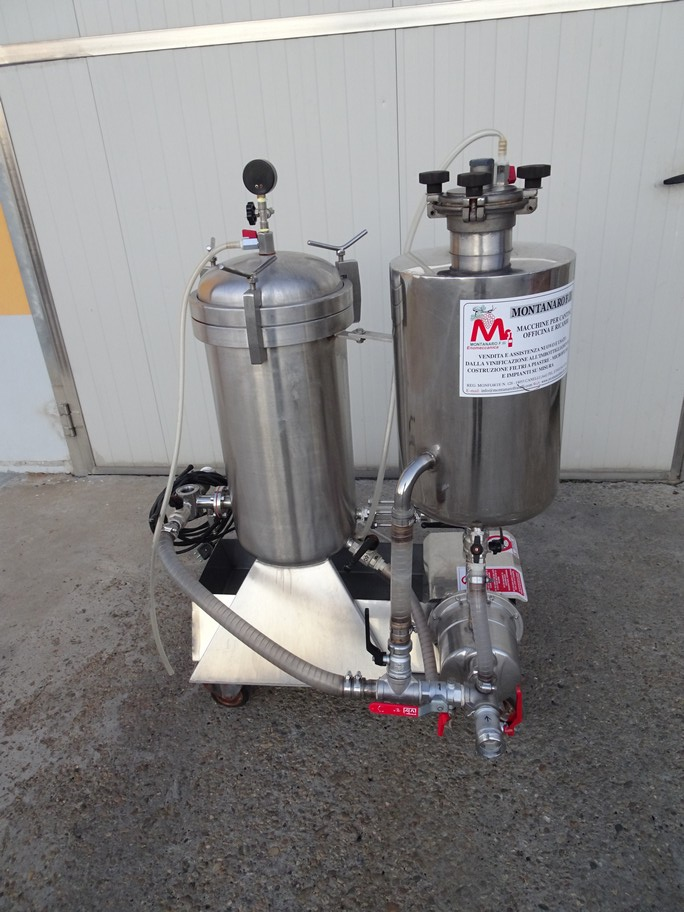KIESELGUR FILTER VELO IN STAINLESS STEEL, 1MQ OF FILTERING SURFACE, VERTICAL SHEETS, SECOND-HAND MACHINE.