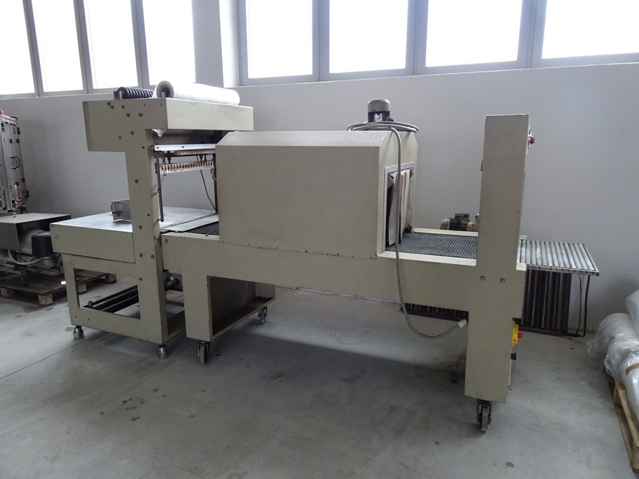 SEMIAUTOMATIC SHRINKWRAPPERS/TERMOPACK BRAND VACUUM PUMP, SECOND-HAND MACHINE.