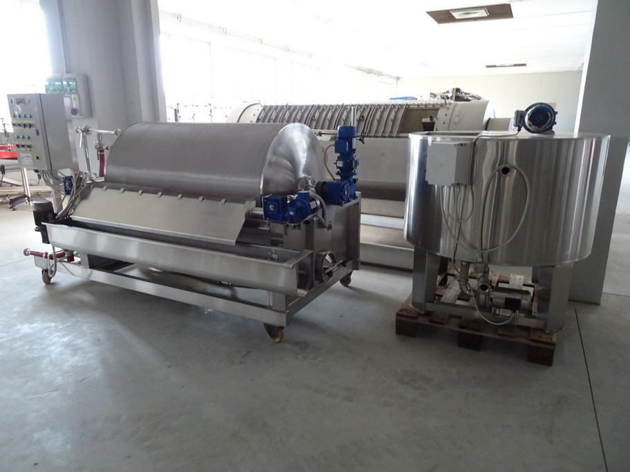SPADONI ROTARY FILTER ASSO MODEL, 5MQ, STAINLESS STEEL, SECOND-HAND MACHINE.