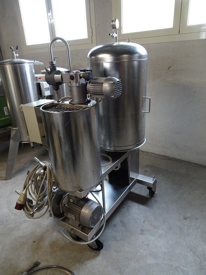 KIESELGUR FILTER VELO IN STAINLESS STEEL, 3MQ OF FILTERING SURFACE, SECOND-HAND MACHINE.