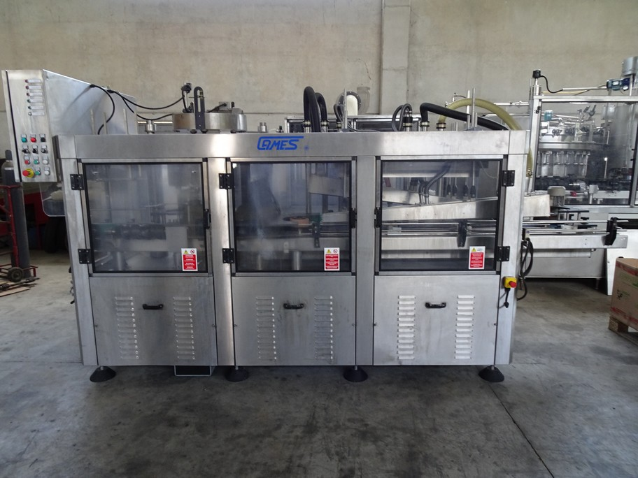 WASHER-DRIER CAMES MODEL WDT 10 IN STAINLESS STEEL WITH TEN WASHING PLATES, SECOND-HAND MACHINE.