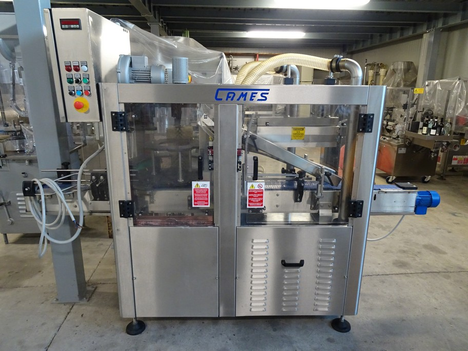 WASHER-DRIER CAMES MODEL WDT 1 IN STAINLESS STEEL, SECOND-HAND MACHINE.